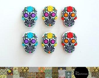 Sugar Skull Fridge Magnet Set