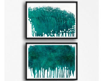 Large abstract, Printable Art, Art Poster, modern abstract, Industrial Decor, turqoise , white , teal,  large print, horizontal abstract