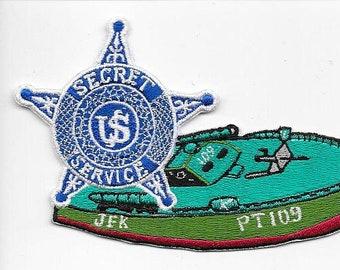 US Secret Service USSS President John F Kennedy Protective Division PT-109 Service Patch