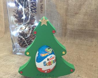 Wooden Christmas Tree Kinder Egg Holder