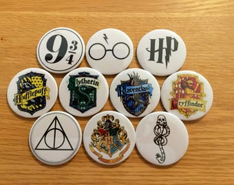 58mm Harry Potter themed badges