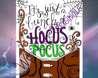 Bunch of Hocus Pocus svg, png, dxf, T Shirt SVG, Kitchen SVG, Digital File