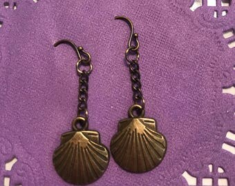 Bronze Santiago Shell Dangle Earrings