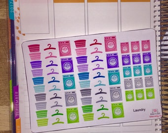 Laundry Planner Stickers (w/ Mini's!) for use with Erin Condren Life Planner and other planners