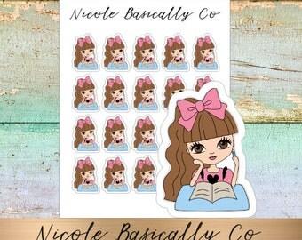 Jade Dolls- Study- School- Character Planner Stickers