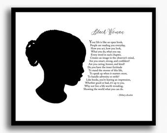 african american woman black woman motivational poem gifts for her gifts for