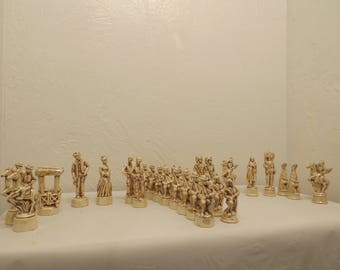 Handmade Chess set cowboys and Indians
