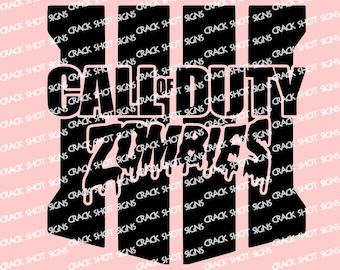 Black Ops Zombies 4 IV IIII Decal Car Truck Laptop PS4 Xbox PC Playstation Call of Duty Gaming Video Games Gamer Hype train