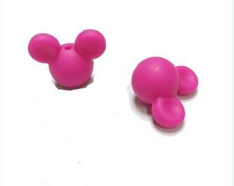 Perle Minnie mickey silicone alimentaire