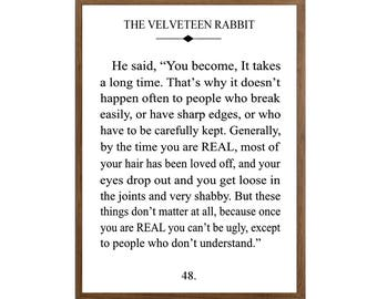 Velveteen Rabbit Fine Art Print Unframed Giclee Print White Background