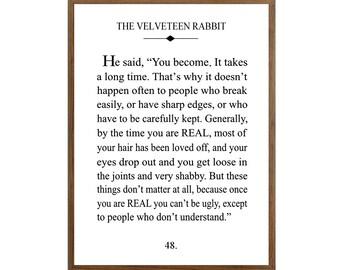 Velveteen Rabbit Fine Art Print Unframed Giclee Print White Background