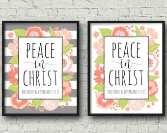 2018 LDS Mutual Theme, DIGITAL DOWNLOAD, Peace in Christ, Multiple Sizes included, Young Womens Poster, Mutual Theme Printable