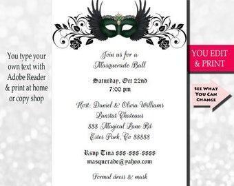 Masquerade party Etsy