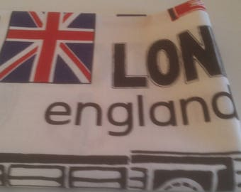 London patterned cotton fabric