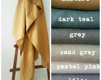 100 % Linen Bedding - Pre-washed Organic Flax Bedding - Rustic Home Linen - Softened Linen Duvet Cover - Handmade Linen Bedding - Linen Sham