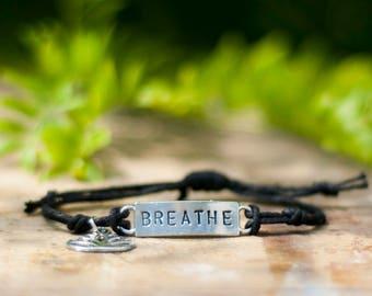 Handmade Vegan Bracelet - Breathe - Hemp Bracelet - Vegan Jewelry - Animal Rights - Awareness - Organic - Veganism - Organic Hemp -