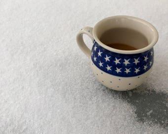 Stars Stripes Dots Boleslawiec Coffee Mug // Polish Pottery Cup