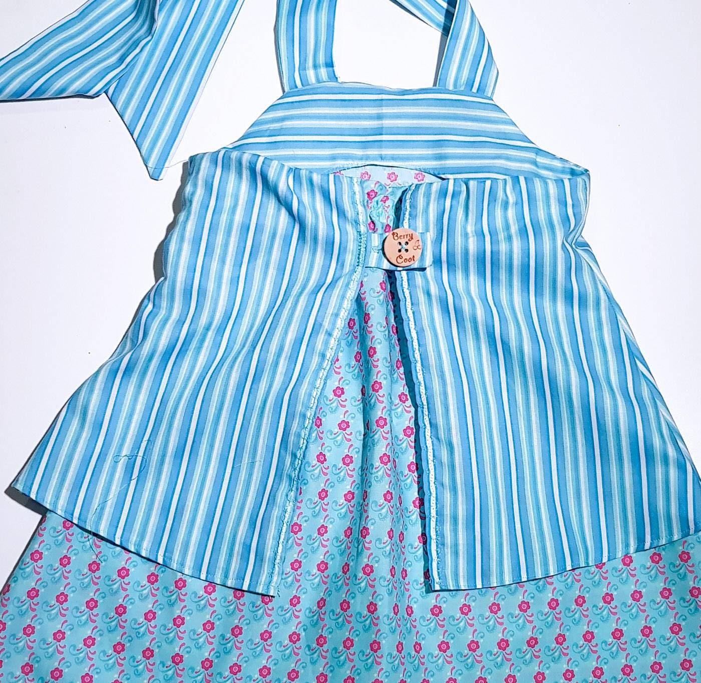 Girls blue dress - blue cotton dress - birthday dress - girls ...