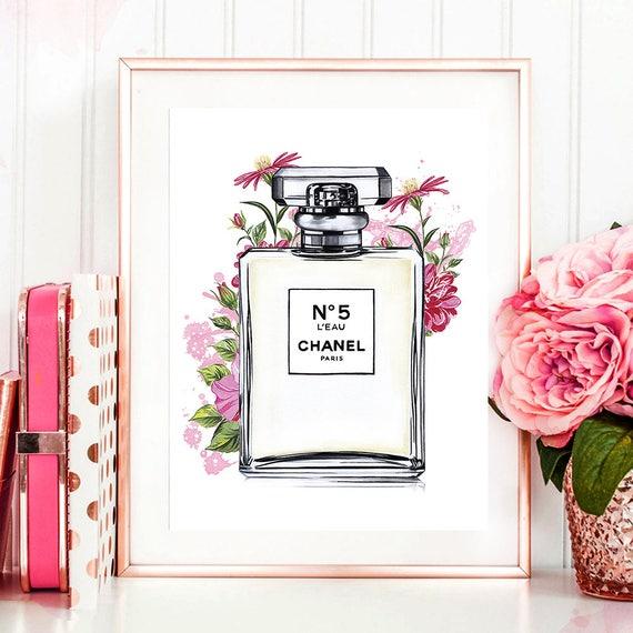 items similar to chanel chanel illustration chanel print coco chanel print fashion. Black Bedroom Furniture Sets. Home Design Ideas