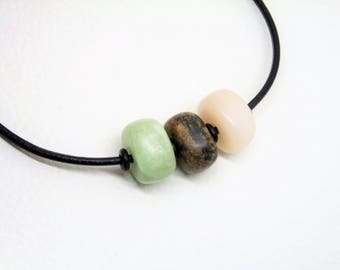 Soapstone Necklace-Necklace-multicolor-soapstone Beads-gift-