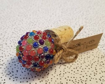 FREE SHIPPING! Beautiful Wine Bottle Stopper! Great gift paired with a nice bottle of wine!