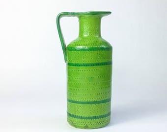 Vintage Italian Pottery Pitcher Aldo Londi Bitossi Era