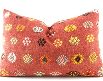 "Kilim Lumbar Pillow Cover Kilim Pillow Kilim Couch Pillow 16""X24""Decorative Pillows For Couch Kilim Sofa Pillow Kilim Pillow Lumbar Cushion"