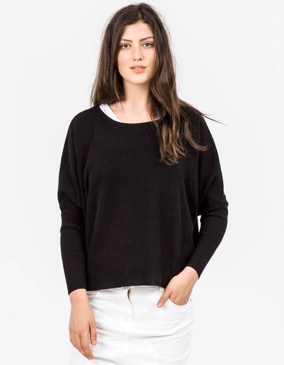 Sass and Bide Yippee Screamer Knit black 100% cashmere jumper XS  S  RRP 490