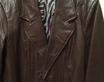 Ladies Dark Espresso 100% Leather Jacket