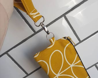 Wristlet ~ Day pouch ~ evening bag ~ Orla Kiely cotton fabric