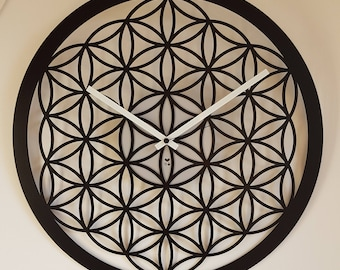 Wall Clock Flower of life