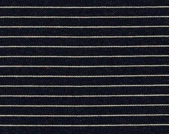 Indigo Knit Stripes from Robert Kaufman- 1/2 Yard