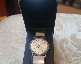 Vintage Timex M Cell chrome  in Associated   box                                                                                           .