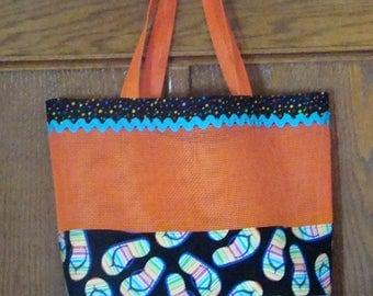 Orange Pet Screen Bag