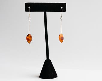 Natural Baltic amber earrings 1,5g