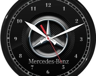 "10"" Mercedes Benz Wall Clock Garage Work Shop Gift Father's Day Man Cave Rec Room"