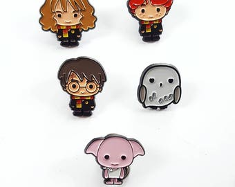 Harry Potter enamel pin set of 5