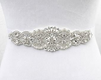 Bridal Sash, Bridal Belt, Wedding Sash, Bridesmaid Belt, Crystal Sash, Rhinestone Belt, Wedding Dress Sash, Wedding Dress Belt, style 77