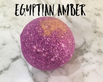 Egyptian amber - Queen Cleo - Queen of the Nile - bath bomb - bath fizzie - bath fizzy - bath treat - handmade - nz made - nz shop - gift