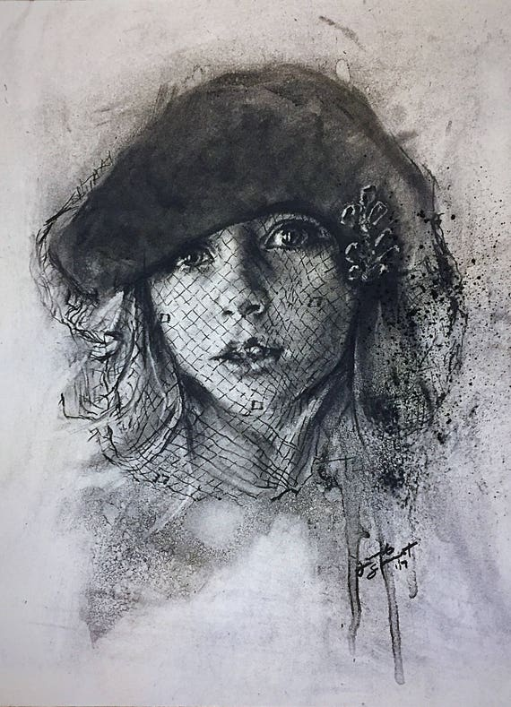 Custom Portrait - Charcoal on Paper - Various Sizes Available
