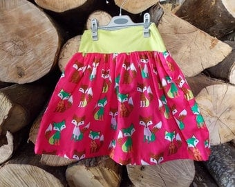 """skirt """"fairy"""" pink printed Fox the 2-9 years available"""