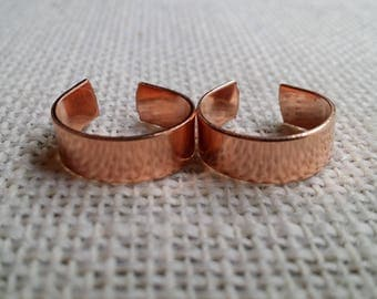 70 Polished 1/4' 20 Gauge Pure  Copper Ring Blanks- Flat
