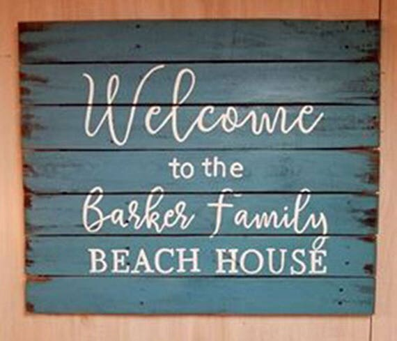 Beach House Signs - Beach House Decor - Beach House Gift - Beach - Welcome Beach House Sign - Birthday Gift - Christmas Gift