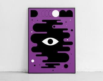 Doom. Wall art. Original poster. High quality giclée print. signed by designer.