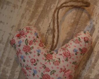 handmade decorative bird hanging cushion key cotton fabric with red 11.5x10cm flowers