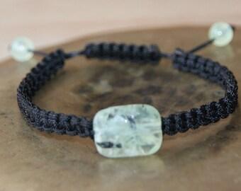 shamballa bracelet with prehnite bead
