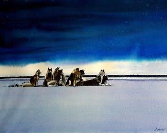 North Pole 2: watercolor 58 x 38 cm