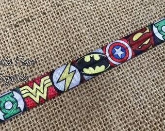 Superhero FOE- Halloween FOE- Wholesale- DIY Headband- Halloween Headband- Batman- Superman- Wonder Woman- Captain America