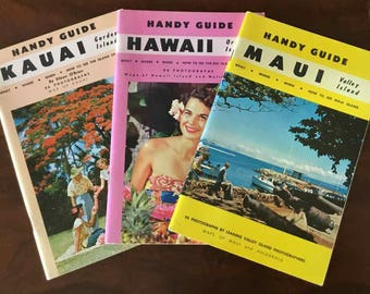 "Vintage ""Handy Guides"" to Maui, Hawaii, and Kauai - Tongg Publishing Co. - 1960"