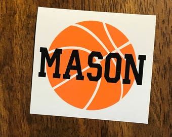 Personalized Basketball Decal